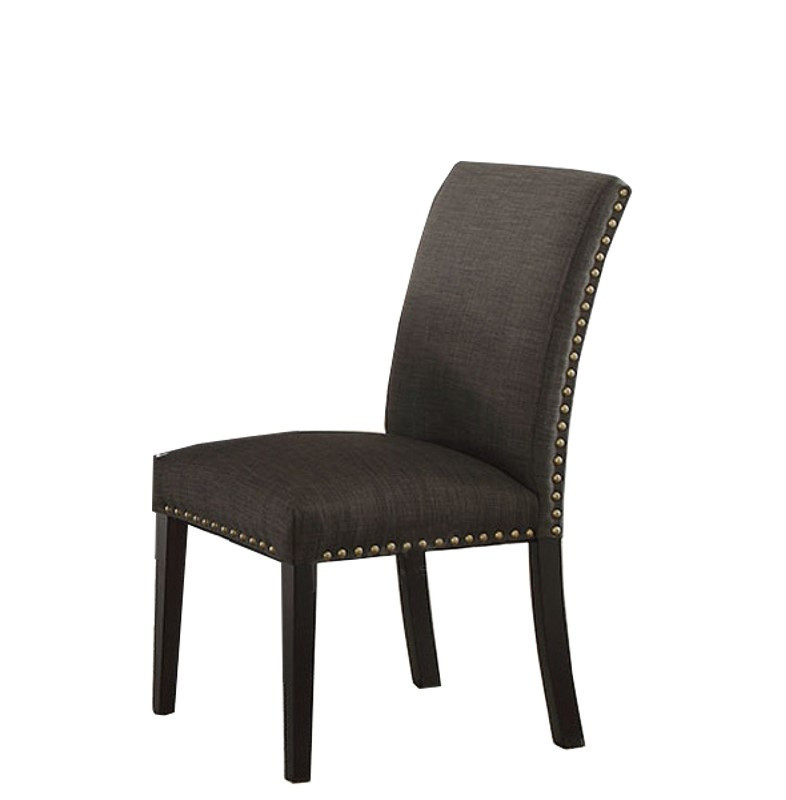 Ash Black Finish Dining Chairs (2)