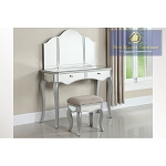 Silver Mirrored Vanity- With Stool Option