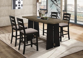 Oakley Collection Counter Height Table Set