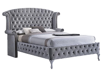 Deanna Upholstered Bed with Nailhead Trim and Button Tufting - out of stock