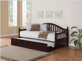 Cappuccino Twin Daybed with Trundle