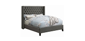 Benica Grey Fabric Upholstered Bed