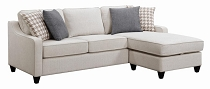 Coaster Living Room Sectional With Storage Ottoman ( Available after 12/13/20)