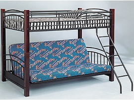 Twin/Futon Convertible Bunk Bed with Mattresses