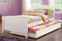 Solid Wood Twin Bed with Trundle