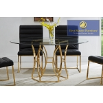MODERN DINING SET- Black, Grey, White Dining Chair w/ Stainless Steel or Gold Frame