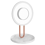 HALO LED MAKEUP MIRROR- COLOR WHITE MARBLE