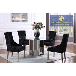 Silver Mirrored Dining  Set with 54