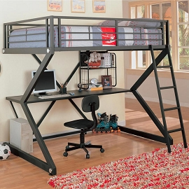 Full Work Station Loft Bed