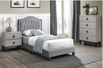 Grey Tufted Bed Frame