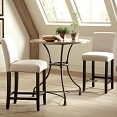 3 Pcs French bistro Counter Height Dining Set