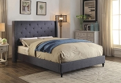Contemporary Style Blue Bed Frame