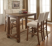 5 Pcs Contemporary Style Bar Height Table Set