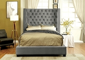 Flannelette Button Tufted Bedframe