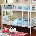 Twin/ Twin Wooden White Bunk Bed