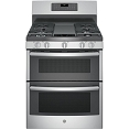 GE 6.8 cu. ft. Freestanding Gas Double Oven Convection Range